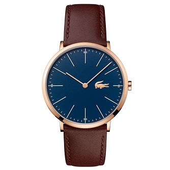 Lacoste Men's Brown Leather Strap Watch - Product number 6412440