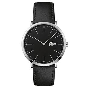 Lacoste Men's Black Leather Strap Watch - Product number 6412459