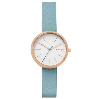 Skagen Ladies' Rose Gold Tone Strap Watch - Product number 6412602