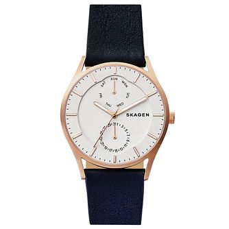 Skagen Men's Rose Gold Tone Strap Watch - Product number 6412688