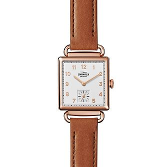 Shinola Cass Rose Gold Plated Strap Watch - Product number 6413358