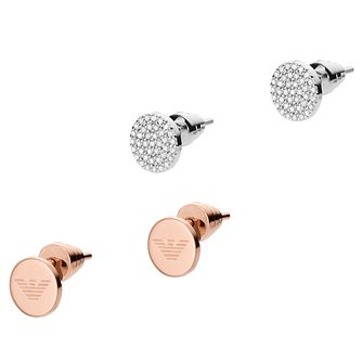 Emporio Armani Two Colour Stud Earring Set - Product number 6413803