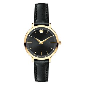Movado Ultra Slim Ladies' Yellow Gold-Plated Strap Watch - Product number 6414125