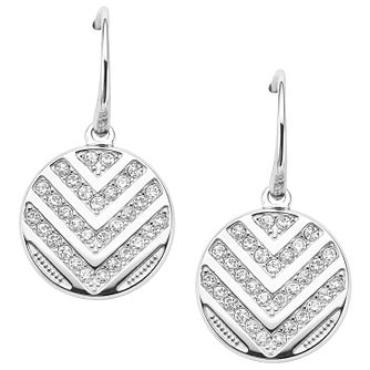 Fossil Stainless Steel Pave Drop Earrings - Product number 6415067