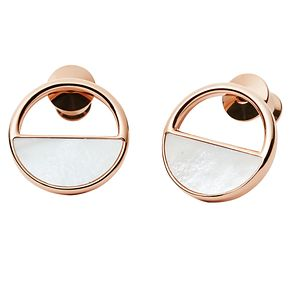 Skagen Elin Rose Gold Tone Stud Earrings - Product number 6415148