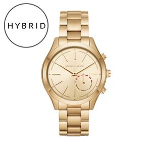 Michael Kors Access Slim Runway Gold Tone Hybrid Smartwatch - Product number 6417159