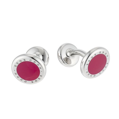 Hugo Boss Men's Round Red Cufflinks - Product number 6420257