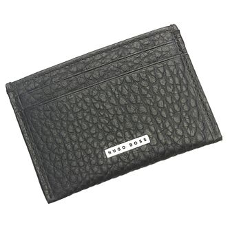 Hugo Boss Varen Men's Black Leather Cardholder - Product number 6420354