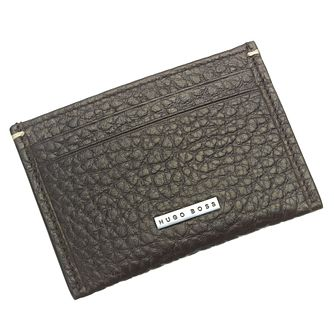 Hugo Boss Varen Men's Brown Leather Card Holder - Product number 6420362