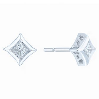 9ct White Gold 0.20ct Diamond Earrings - Product number 6420516
