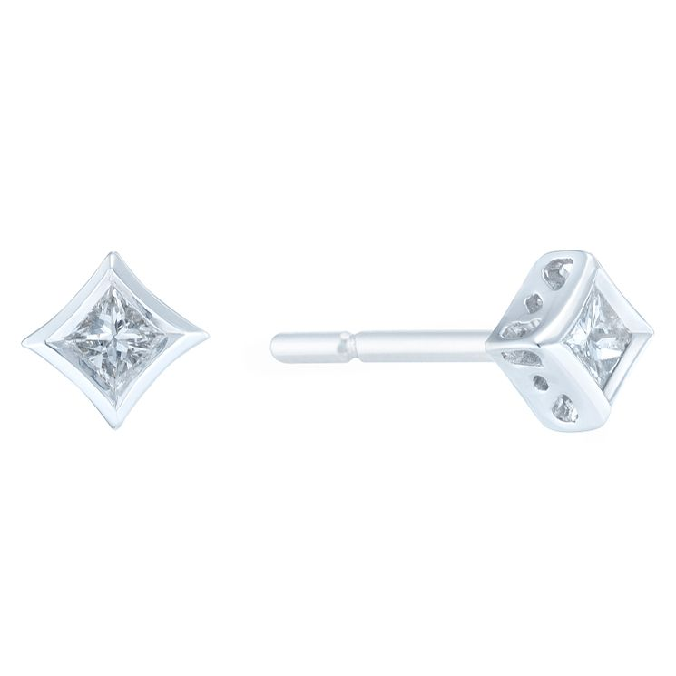9ct White Gold 0.10ct Diamond Earrings - Product number 6420532