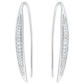 9ct White Gold Diamond Hoop Earrings - Product number 6420567