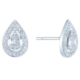 9ct White Gold 0.30ct Diamond Earrings - Product number 6420605
