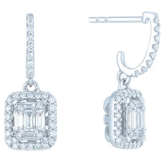 9ct White Gold 1/2ct Diamond Earrings - Product number 6420613