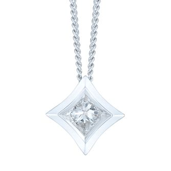 9ct White Gold 0.15ct Pendant - Product number 6420702