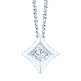 9ct White Gold 0.10ct Pendant - Product number 6420710