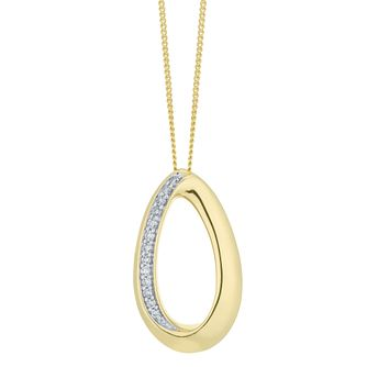 9ct Yellow Gold Diamond Pendant - Product number 6420788