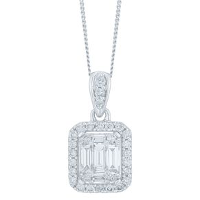 9ct White Gold 1/2ct Diamond Pendant - Product number 6420818