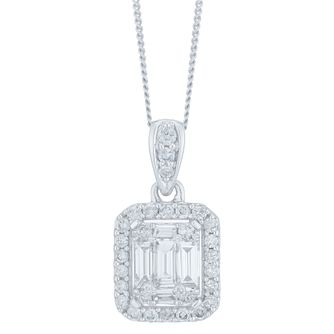 9ct White Gold 0.50ct Diamond Pendant - Product number 6420818