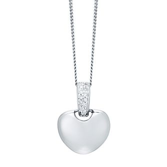 9ct White Gold Diamond Everlasting Heart Pendant - Product number 6420869
