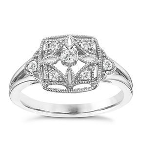 Silver 0.12ct Diamond Ring - Product number 6420893