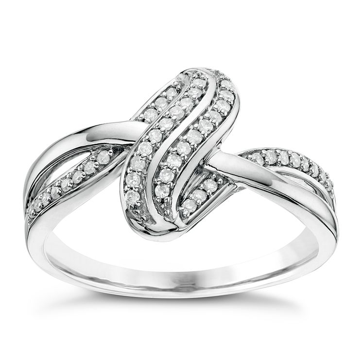 Sterling Silver 0.14ct Diamond Ring - Product number 6421156