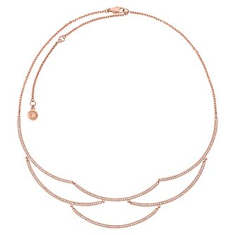 Michael Kors Rose Gold Tone Stone Set Necklace - Product number 6426220
