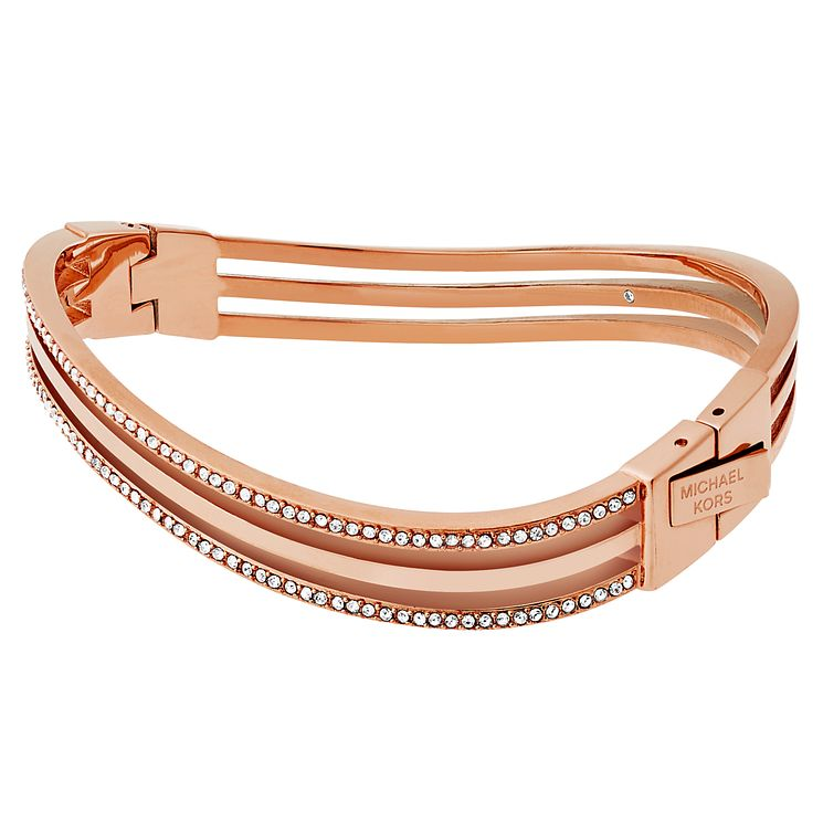 Michael Kors Rose Gold Tone Stone Set Bangle - Product number 6426239