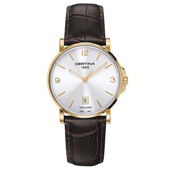 Certina DS Caimano men's brown leather strap watch - Product number 6426484