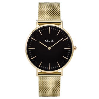 Cluse Ladies' La Bohème Gold Plated Mesh Bracelet Watch - Product number 6426956