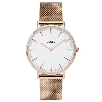Cluse Ladies' La Bohème Rose Gold Plated Mesh Bracelet Watch - Product number 6426972