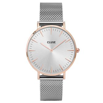 Cluse Ladies' La Bohème Silver Mesh Bracelet Watch - Product number 6426999
