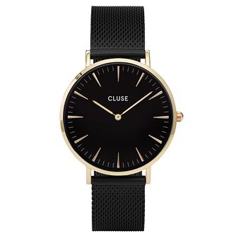 Cluse Ladies' La Bohème Black Mesh Bracelet Watch - Product number 6427006