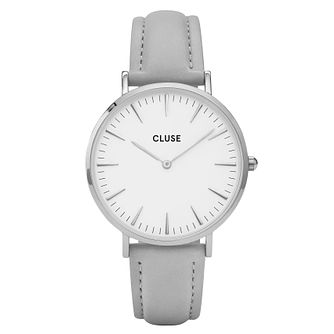Cluse Ladies' La Bohème Grey Leather Strap Watch - Product number 6427014