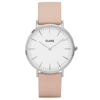Cluse Ladies' La Bohème Nude Leather Strap Watch - Product number 6427022