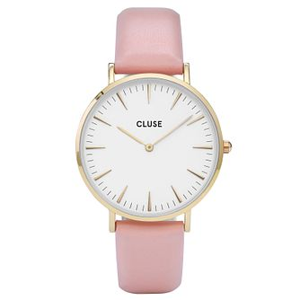Cluse Ladies' La Bohème Pink Leather Strap Watch - Product number 6427057