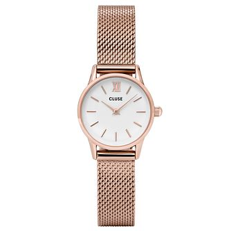 Cluse Ladies' Minuit Rose Gold Plated Mesh Bracelet Watch - Product number 6427294