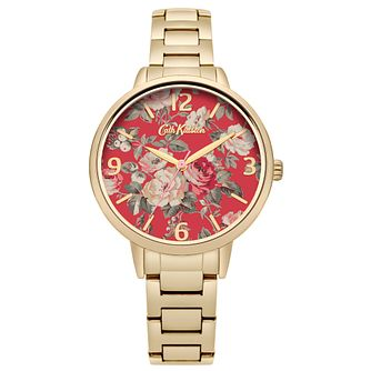 Cath Kidston Gold Plated Red Dial Bracelet Watch - Product number 6428215