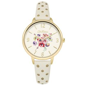 Cath Kidston Gold PU Strap Watch - Product number 6428223