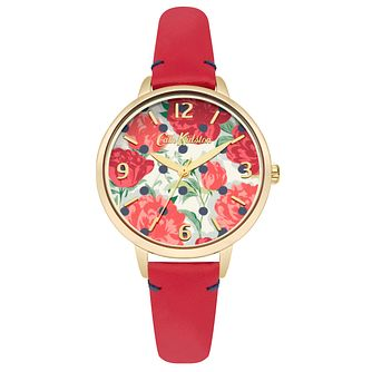 Cath Kidston Red Leather Strap Watch - Product number 6428363