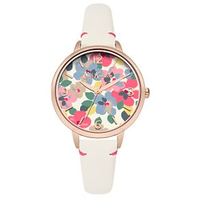 Cath Kidston White Leather Strap Watch - Product number 6428371
