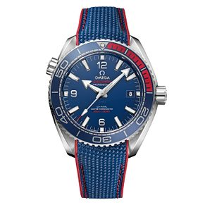 Omega Limited Edition Seamaster Men's Blue Strap Watch - Product number 6428460