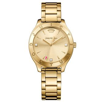 Juicy Couture Gold Plated Stainless Steel Bracelet Watch - Product number 6428533