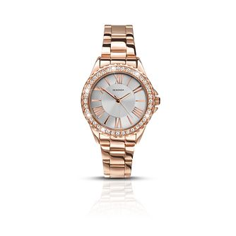 Sekonda Ladies' Rose Gold Plated Silver Dial Bracelet Watch - Product number 6429904
