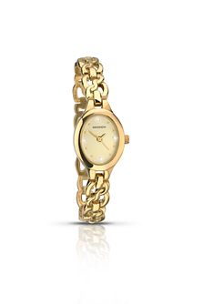 Sekonda Ladies' Stone Set Gold Plated Bracelet Watch - Product number 6429939