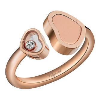 chopard Happy Hearts 18ct Rose Gold Open Ring - Product number 6432360