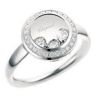 Chopard Happy Diamonds 18ct White Gold 0.27ct Diamond Ring - Product number 6432379