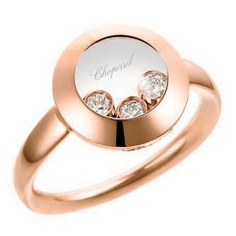 Chopard Happy Diamonds 18ct Rose Gold Diamond Ring - Product number 6432387