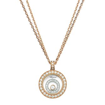 Chopard Happy Spirit 18ct Rose Gold 0.72ct Diamond Pendant - Product number 6432433
