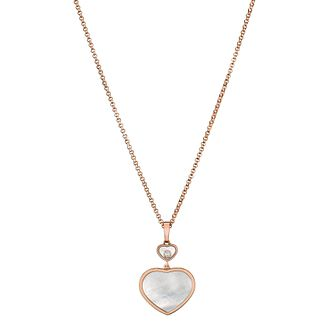Chopard Happy Hearts 18ct Rose Gold Pendant - Product number 6432468